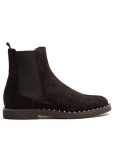 Valentino Micro Rockstud suede chelsea boots