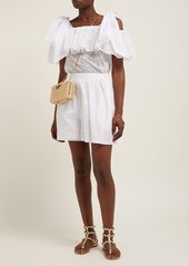 Valentino Micro Sangallo cotton-blend broderie anglaise top