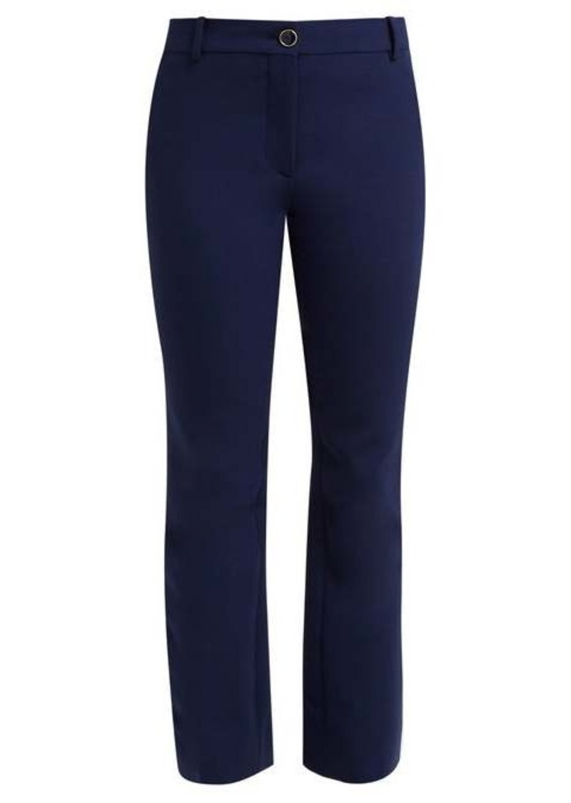 Valentino Mid-rise wool-blend flared trousers