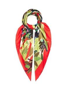 Valentino Garavani Monkey and logo-print silk scarf