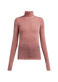 Valentino Monogram-intarsia roll-neck sweater