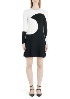 Valentino Moon Inlay Long Sleeve Sweater Dress