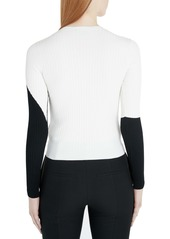 Valentino Moon Inlay Ribbed Sweater
