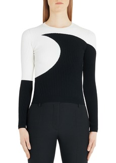 Valentino Moon Inlay Ribbed Sweater