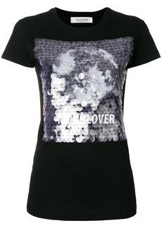 Valentino Moonlover sequin T-shirt - Black