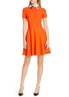 Valentino More Love Minidress with Graphic Removable Collar