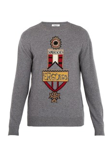Valentino Motif-intarsia wool and cashmere-blend sweater