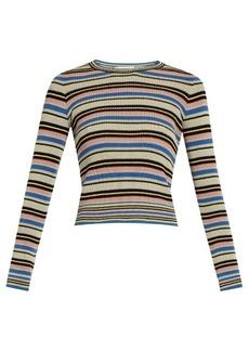 Valentino Multi-striped cotton sweater