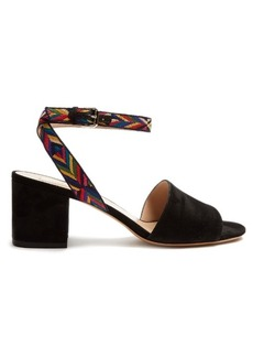 Valentino Native Couture 1975-embroidered suede sandals