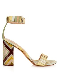 Valentino Native Couture 1975-print plexiglas sandals