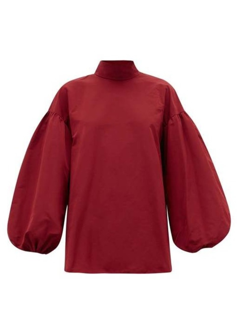 Valentino Neck-tie cotton-blend faille blouse