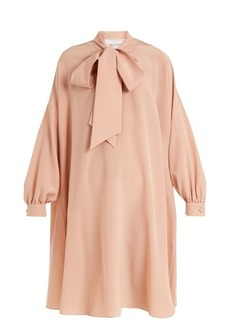Valentino Neck-tie silk crepe de Chine dress