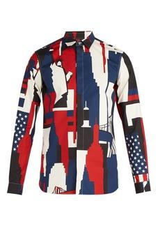 Valentino New York-print cotton shirt