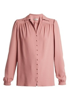 Valentino Notch-lapel crepe shirt