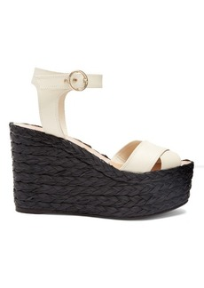 Valentino Nuevitas cross-strap leather wedge sandals
