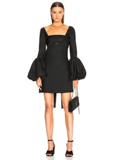 Valentino Off Shoulder Cutout Mini Dress