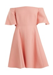 Valentino Off-shoulder silk-crepe dress