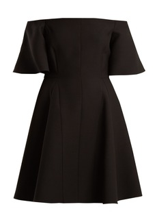 Valentino Off-the-shoulder silk-crepe dress