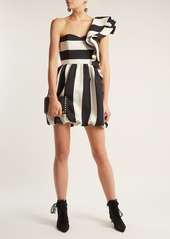 Valentino One-shoulder wool-blend dress