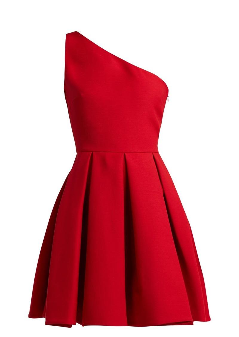 ba6fbb8836ef Valentino Valentino One-shoulder wool-blend skater dress | Dresses