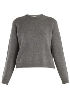 Valentino Open-back cashmere sweater