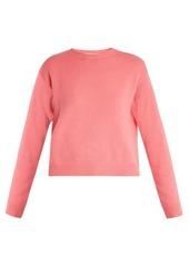 Valentino Open-back cashmere sweater