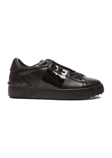 Valentino Open Low Top Leather Sneakers