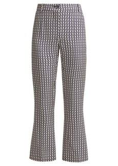 Valentino Optical-print wool-blend trousers