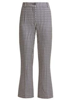 Valentino Optical-print wool-blend trousers