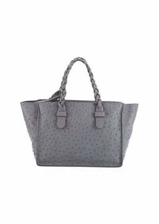Valentino Ostrich-Embossed Leather Tote Bag