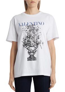 Valentino Oversize Vase Print Logo Graphic Tee
