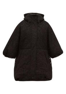 Valentino Oversized balloon-sleeve lace puffer jacket