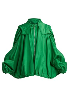 Valentino Oversized hooded silk jacket