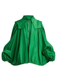 Valentino Oversized hooded silk jacket