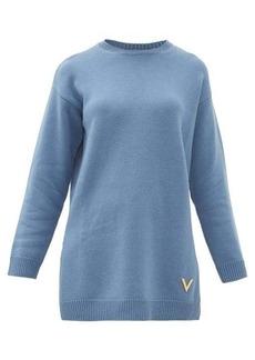 Valentino Oversized split-hem cashmere sweater