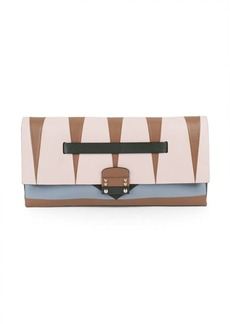 VALENTINO GARAVANI Paneled Leather Clutch