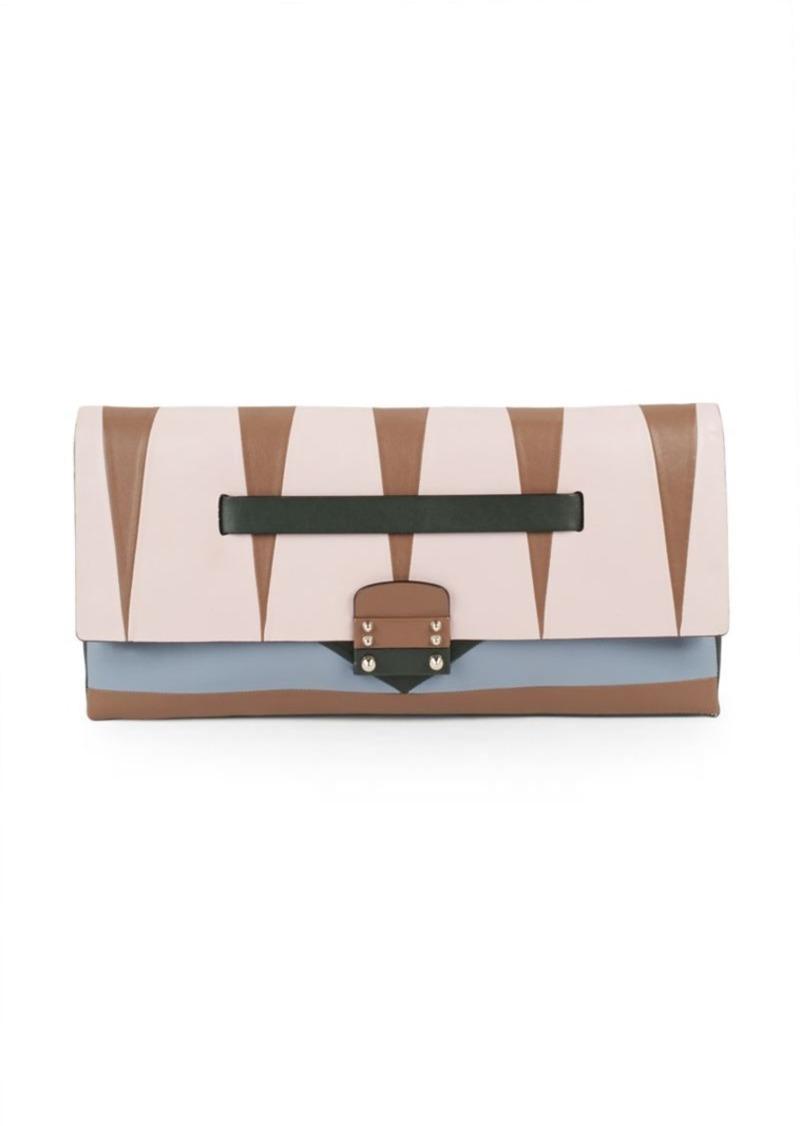 Valentino Garavani Paneled Leather Clutch