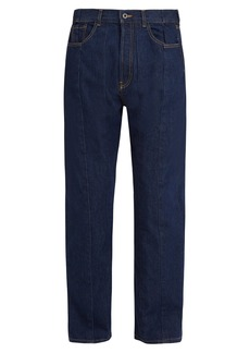 Valentino Panelled straight-leg jeans