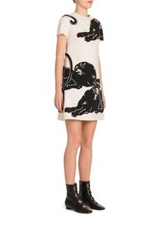 Valentino Panther Emroidered Dress