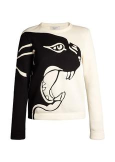 Valentino Panther-intarsia sweatshirt