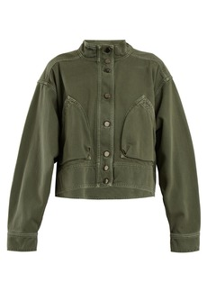 Valentino Patch-pocket denim cropped jacket