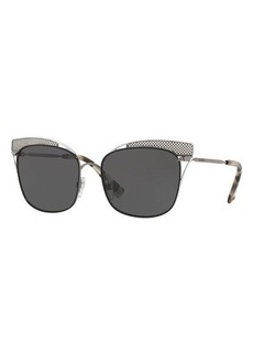 Valentino Peaked Square Metal Sunglasses