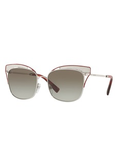 Valentino Peaked Square Metal Sunglasses