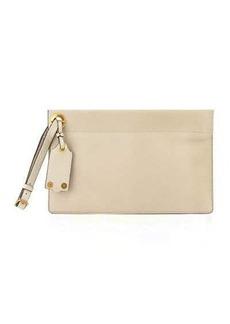 Valentino Garavani Pebbled Leather Clutch Bag