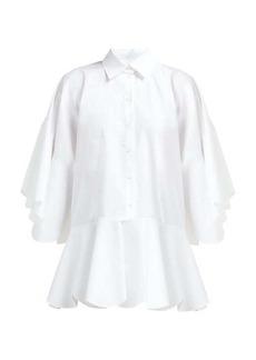 Valentino Peplum-hem cotton shirt
