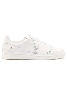 Valentino Perforated leather low-top trainers