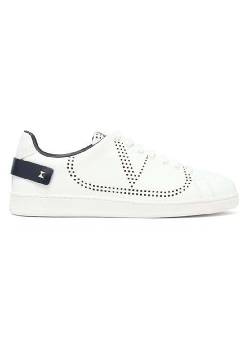 Valentino Perforated low-top leather trainers