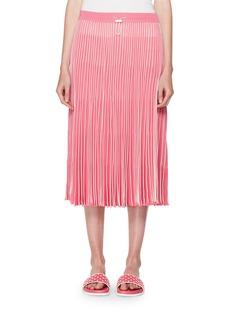 Valentino Pleated A-Line Pull-On Midi Skirt
