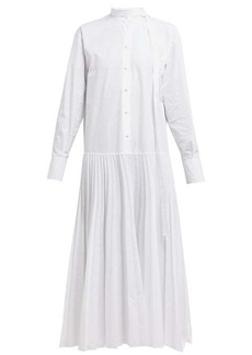 Valentino Pleated cotton-poplin shirtdress