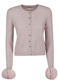 Valentino Pleated Cuffed Cardigan